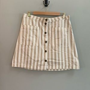 Old Navy Striped Button Down Skirt, Size 14